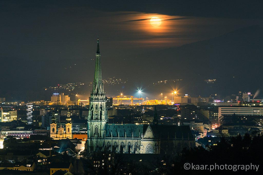 Moonrise over New Cathedral