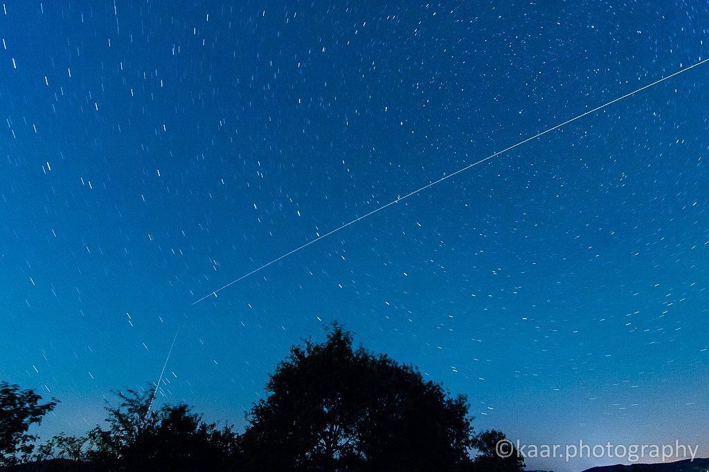ISS and a Plane